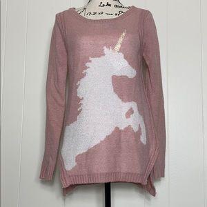 Lauren Conrad Pink Unicorn Sweater
